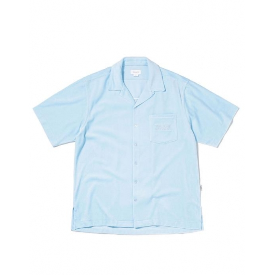 Velour S/SL Shirt Sky Blue