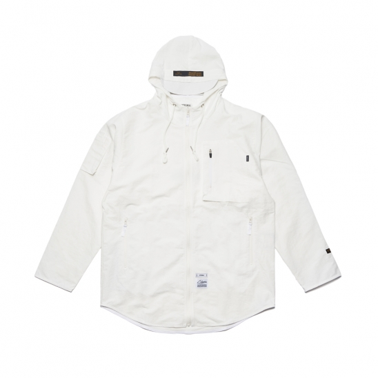 STGM TECH WINDBREAKER JACKET WHITE