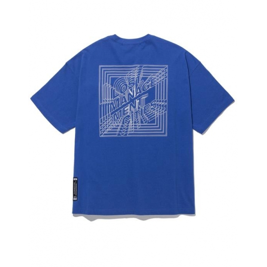 LMC SQUARE FN OVERSIZED TEE blue