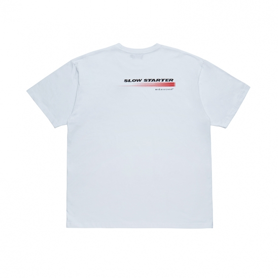 SLOW STARTER OVERSIZED SS T-SHIRT WHITE