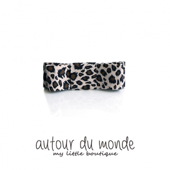 leopard square hairpin