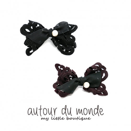 lace pearl hairpin (2colors)