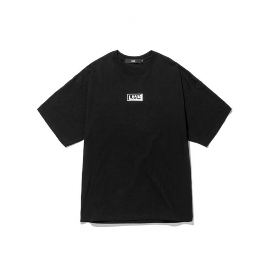 LMC BOX HALF LOGO TEE black