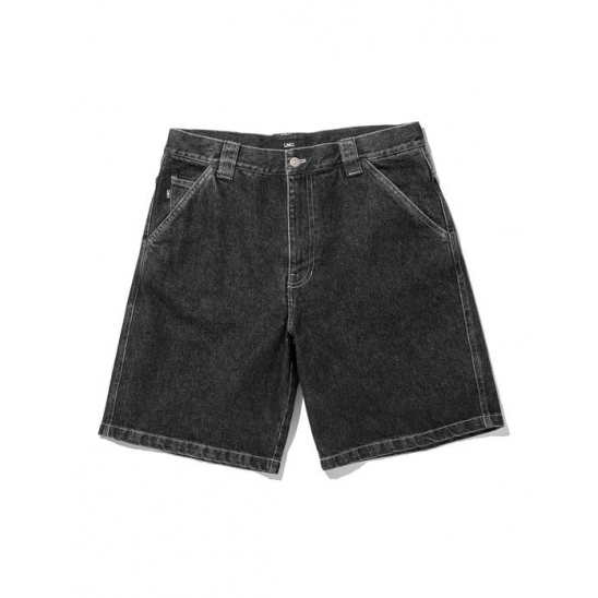 LMC STONE WASHED LOOSE FIT DENIM SHORTS black
