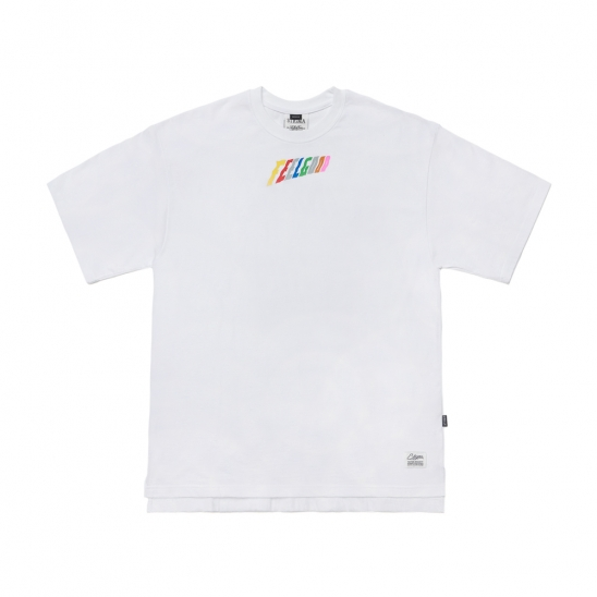 RAINBOW OVERSIZED T-SHIRTS WHITE