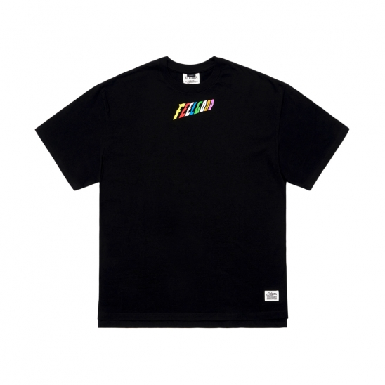 RAINBOW OVERSIZED T-SHIRTS BLACK