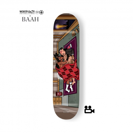 monopatin x BAAH collaboration skateboard deck