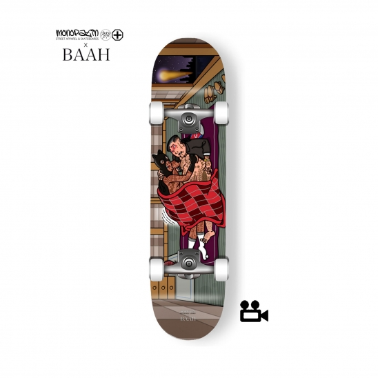 monopatin x BAAH collaboration complete skateboard