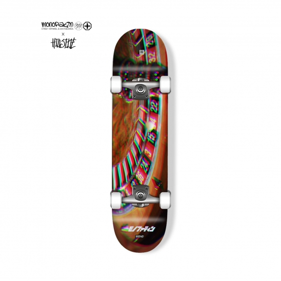 monopatin x hillside collaboration roueltte complete skateboard