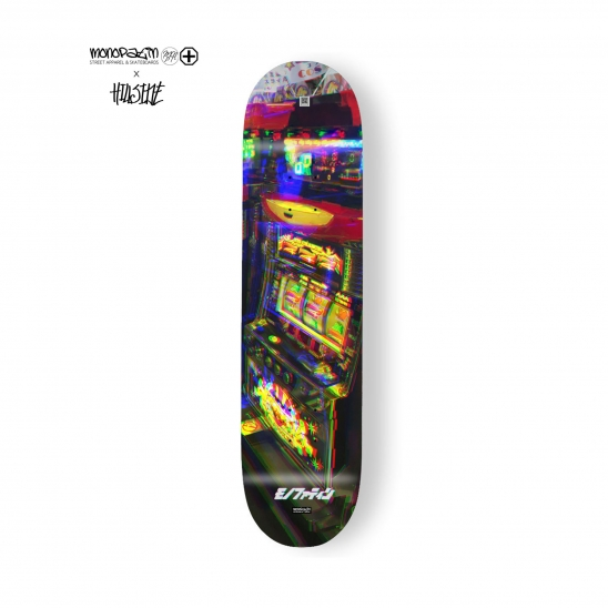 monopatin x hillside collaboration slot machine skateboard deck