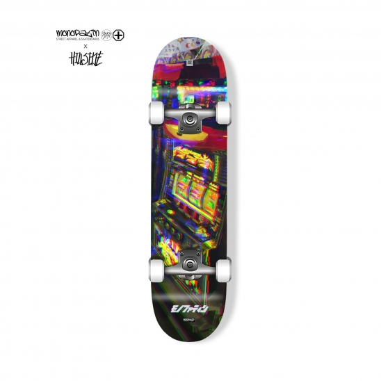 monopatin x hillside collaboration slot machine complete skateboard