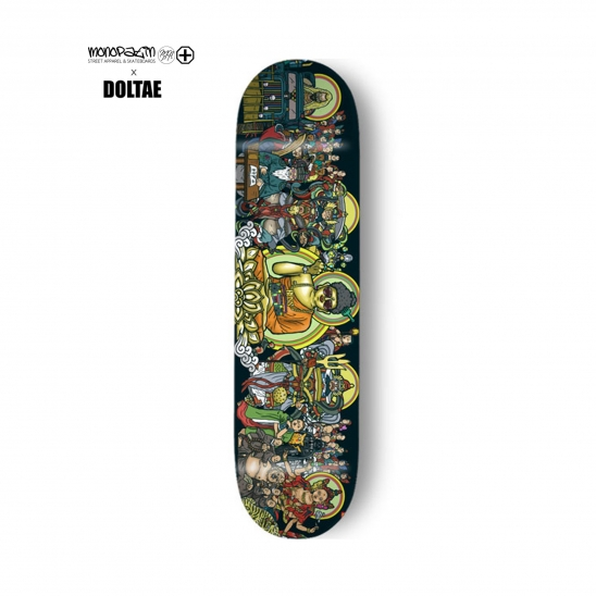 "monopatin x doltae collaboration ""Tanhwa"" skateboard deck"
