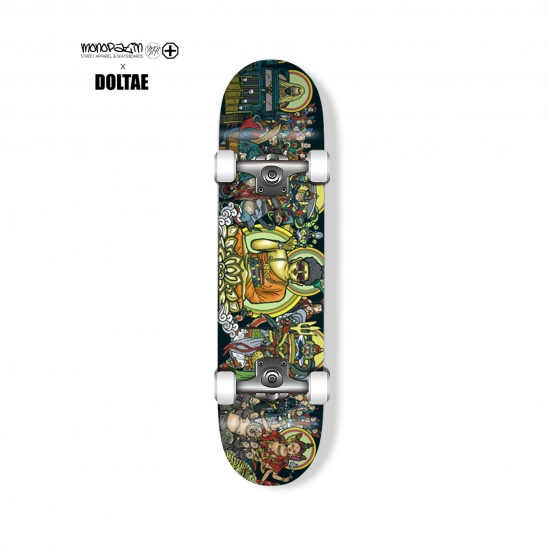 "monopatin x doltae collaboration ""Tanhwa"" complete skateboard"