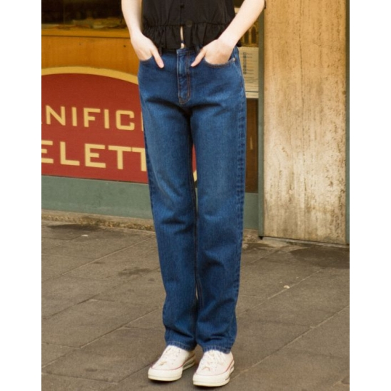 SLIM STRAIGHT JEANS (DARK BLUE)