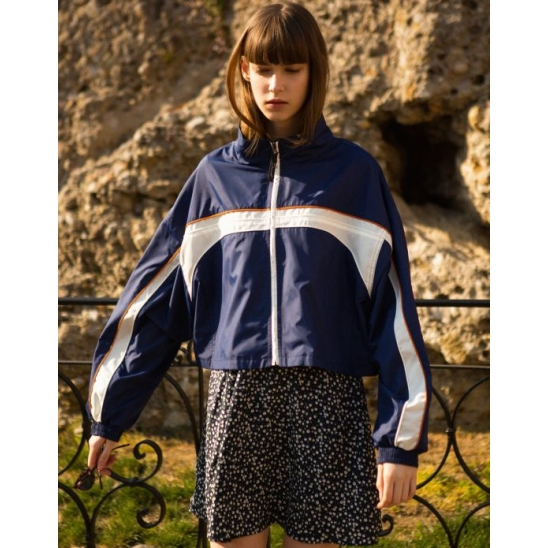 PIPING SHORT WINDBREAKER (NAVY)