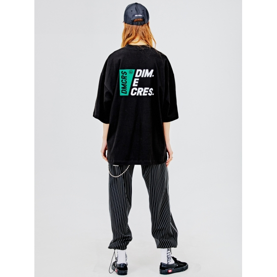 DMCRS boarding graphic T-shirts BLACK