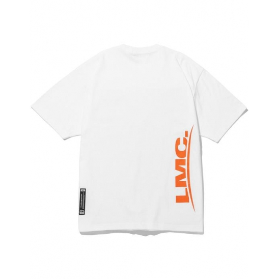 LMC FRONT OVER PRINTED TEE white
