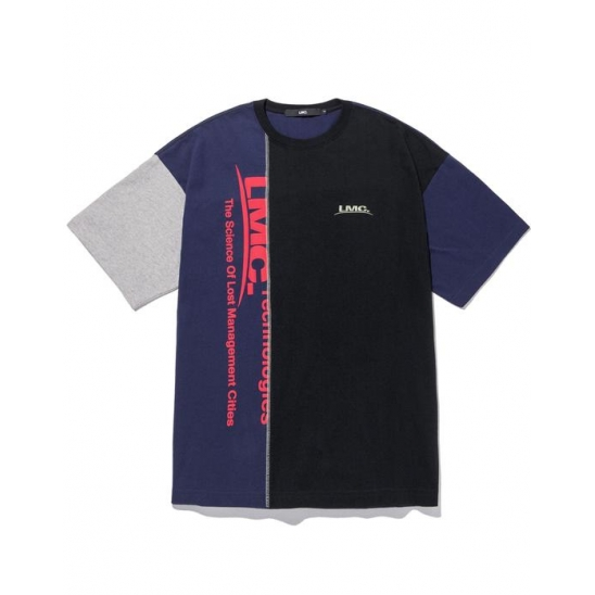 LMC COLOR MIX OVERSIZED TEE navy
