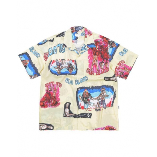 BUG BLOOD Hawaiian Shirt  Yellow