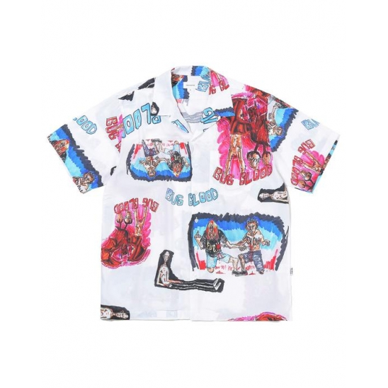 BUG BLOOD Hawaiian Shirt  White