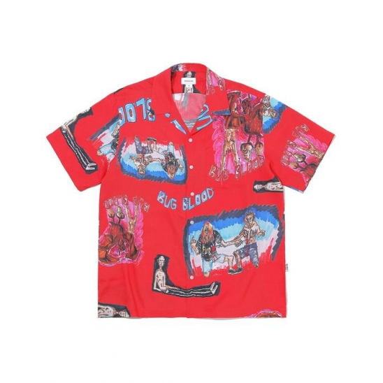 BUG BLOOD Hawaiian Shirt  Red