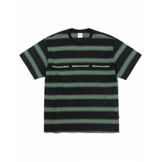 3ESP Logo Striped Tee Black