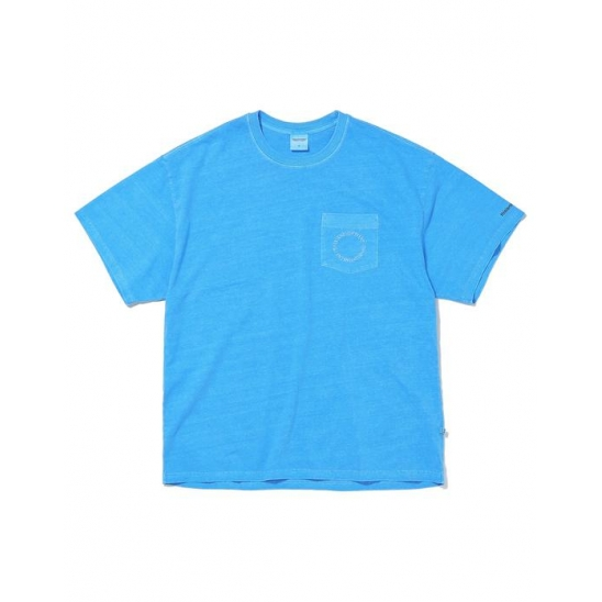 C-UNION Pocket Tee Blue