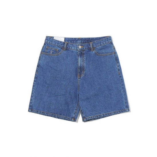 Denim Skate Short Mid Blue