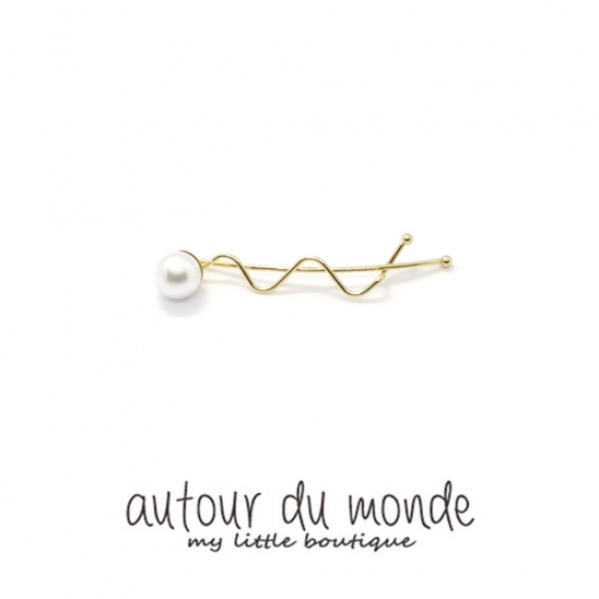 pearl zigzag hairpin