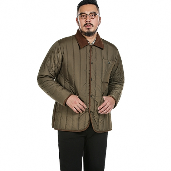 RUGGED HOUSE : COLUMN QUILTING JACKET 브라운