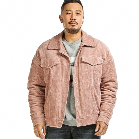 RUGGED HOUSE : CORDUROY QUILTING JACKET 핑크