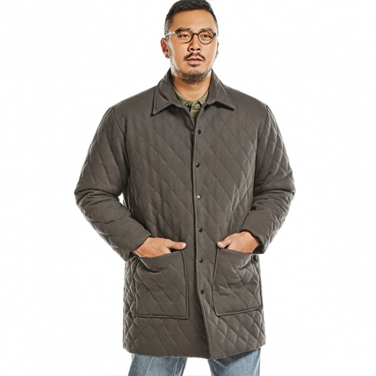 RUGGED HOUSE : QUILTING SNAP PADDING JACKET 그레이
