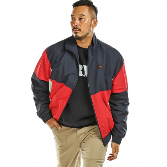RUGGED HOUSE : COLOR BLOCK ZIP UP JUMPER 레드