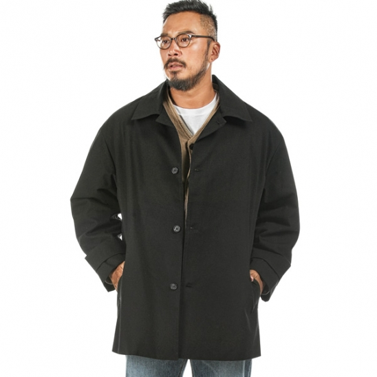 RUGGED HOUSE : HEIMISH HALF COAT 블랙