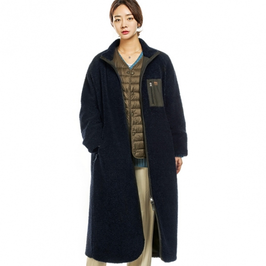RUGGED HOUSE : RETRO POCKET FLEECE COAT 네이비
