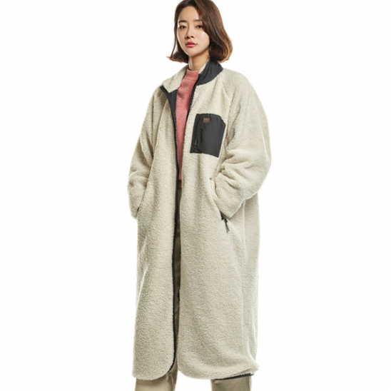 RUGGED HOUSE : RETRO POCKET FLEECE COAT 아이보리