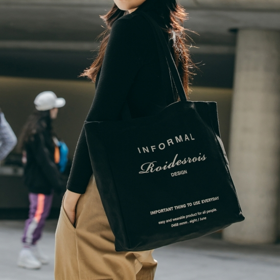[로아드로아]ROIDESROIS - INFORMAL SHOULDER BAG (BLACK) 숄더백 에코백
