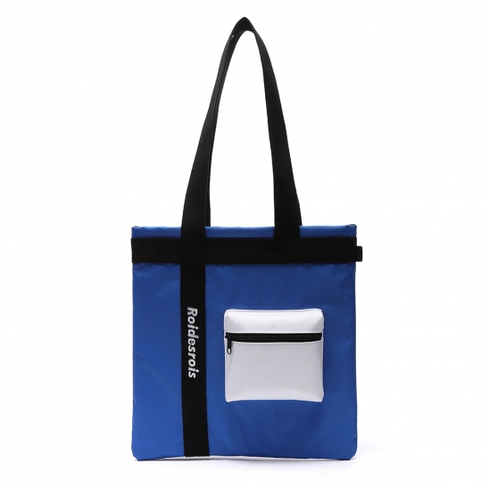 [로아드로아]ROIDESROIS - 3D POCKET SHOULDER BAG (BLUE) 가방 에코백