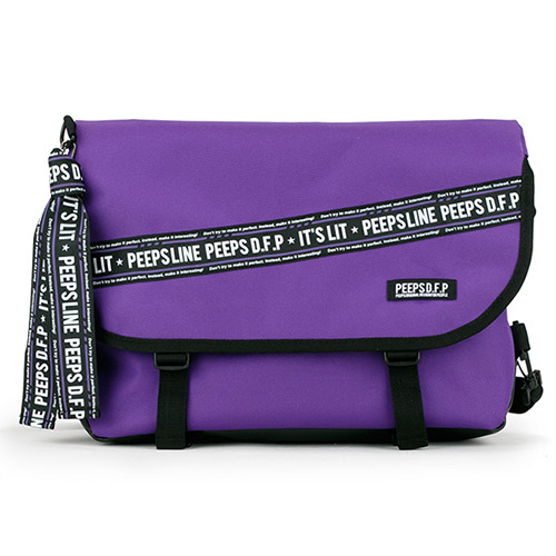 [핍스] PEEPS essential messenger bag(P line_violet)