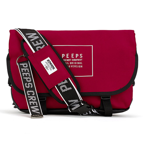 [핍스] PEEPS essential messenger bag(light_bungundy)