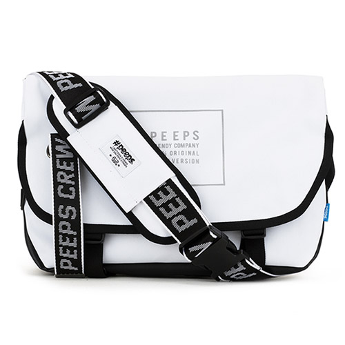 [핍스] PEEPS essential messenger bag_light edit(light_white)