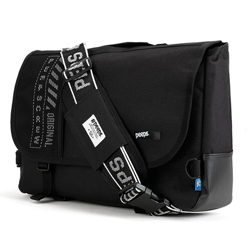 [핍스] PEEPS net messenger bag(black)