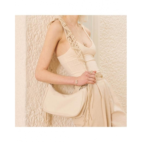 ETHNIC LEATHER BAG (IVORY)