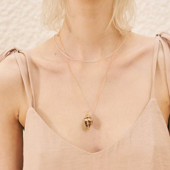 GOLD FOIL CONCH NECKLACE (PINK)