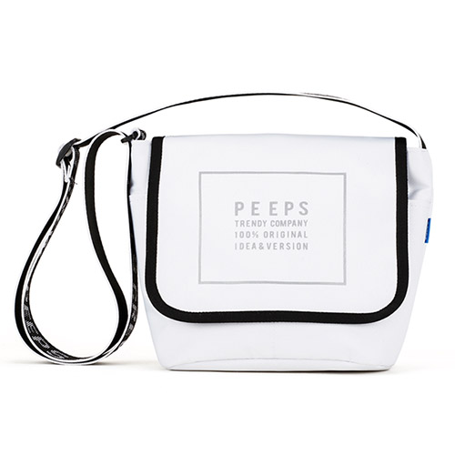 [핍스] PEEPS reflect light mini cross bag(white)