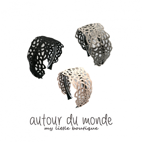 daisy wide hairband (3colors)