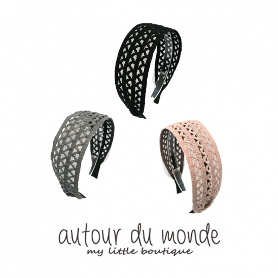 cotton lace hairband (3colors)