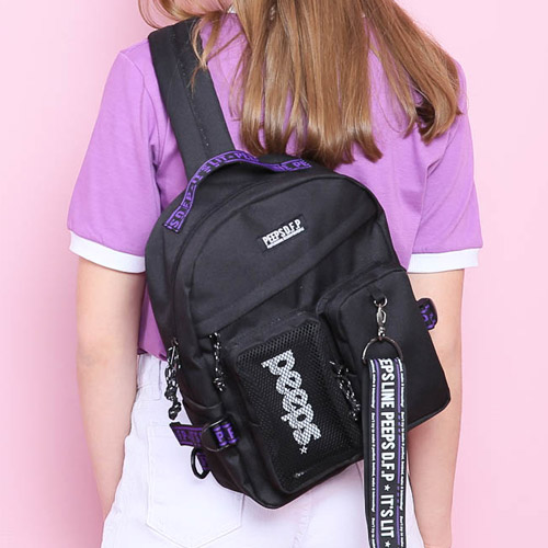 [핍스] PEEPS advance2 sling bag(black)