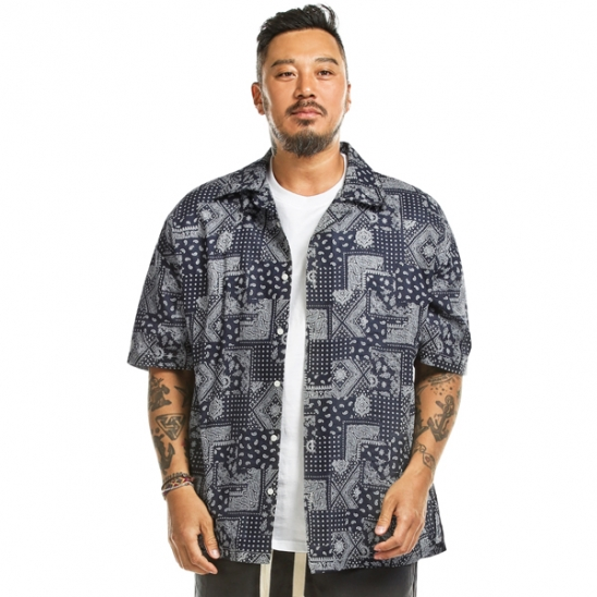 RUGGED HOUSE : CARSON HALF SHIRTS 네이비