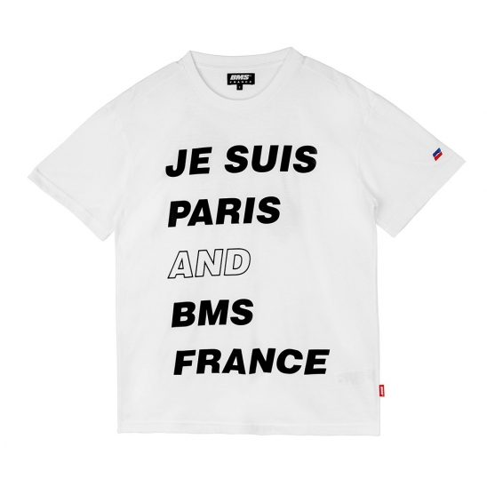 BMS PARIS Overfit T-shirts - 오버핏반팔티 - white (GEZ2285_31)
